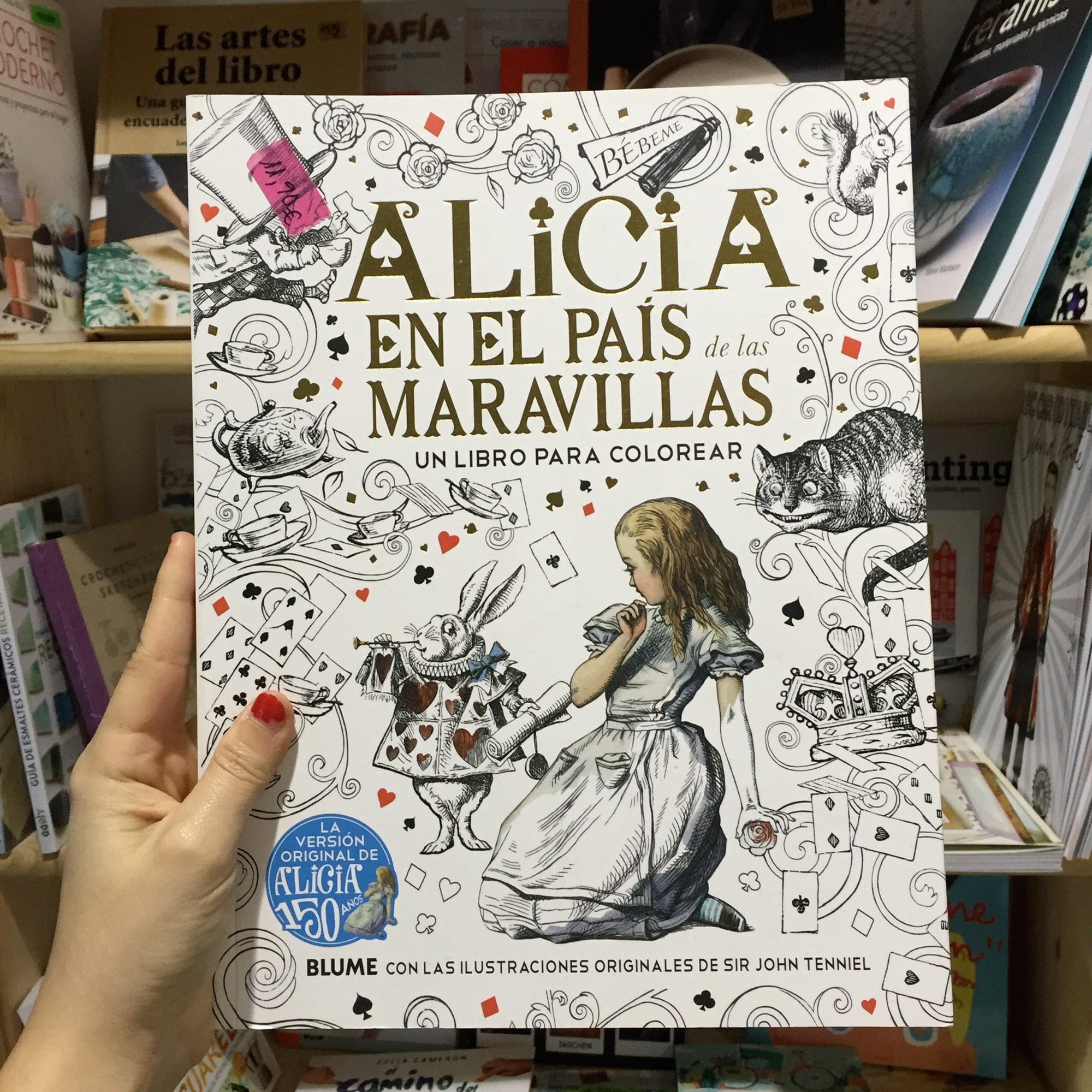 Libro de colorear Alicia en el Pais de las Maravillas – Ovni Bazar ...